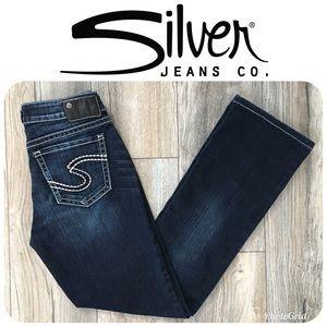 LIKE NEW SILVER Suki High Slim Boot Jeans Sz 27